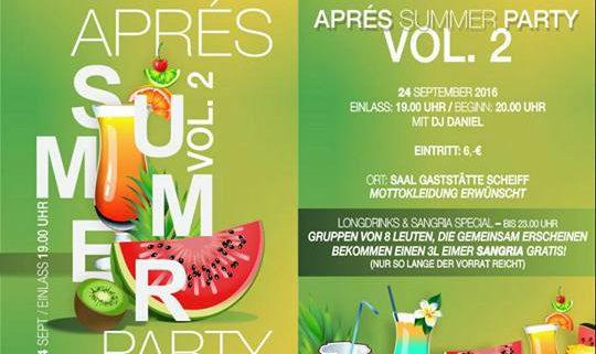 APRES Summer Party Vol.2
